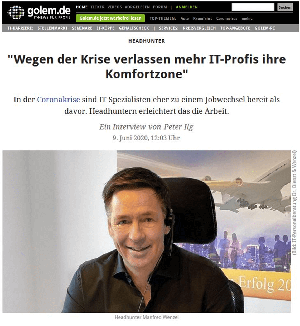 Headhunting in der Krise - Interview mit der IT-Personalberatung
